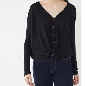 Urban Outfitters *B Right Black Oversized Thermal*